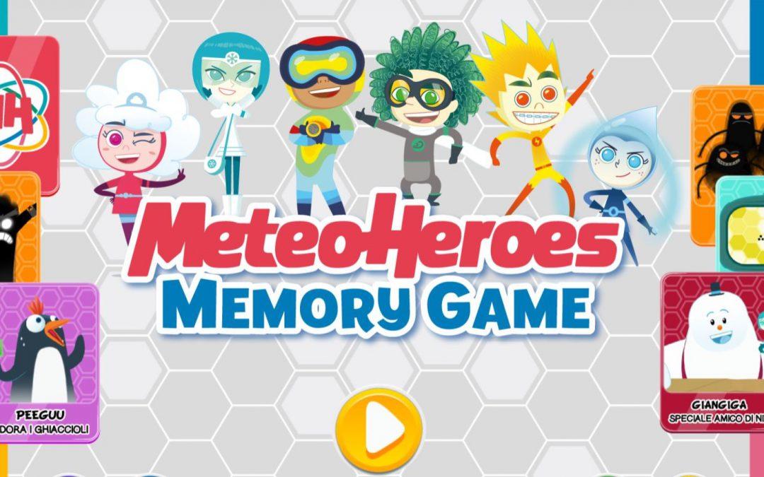 Memory game e MeteoHeroes, il piacere del gioco