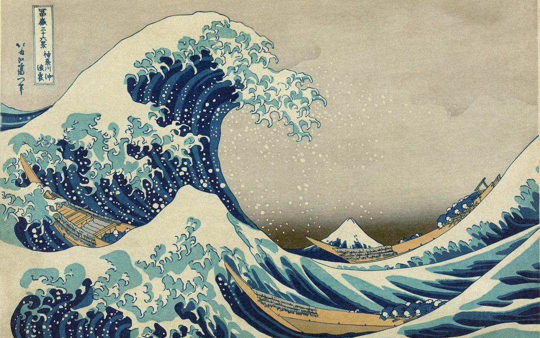 Hokusai, un'onda e il pazzo della pittura